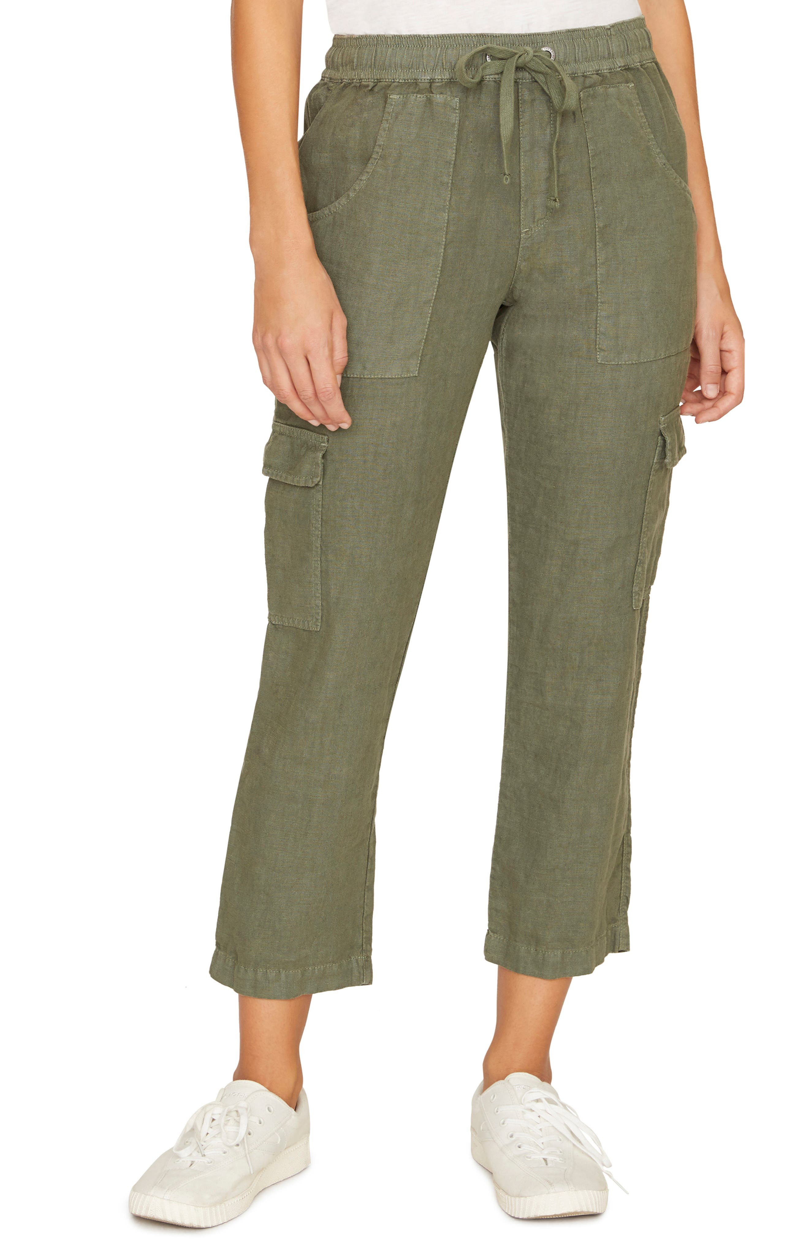 Sanctuary Discoverer Pull-On Cargo Pants, Green