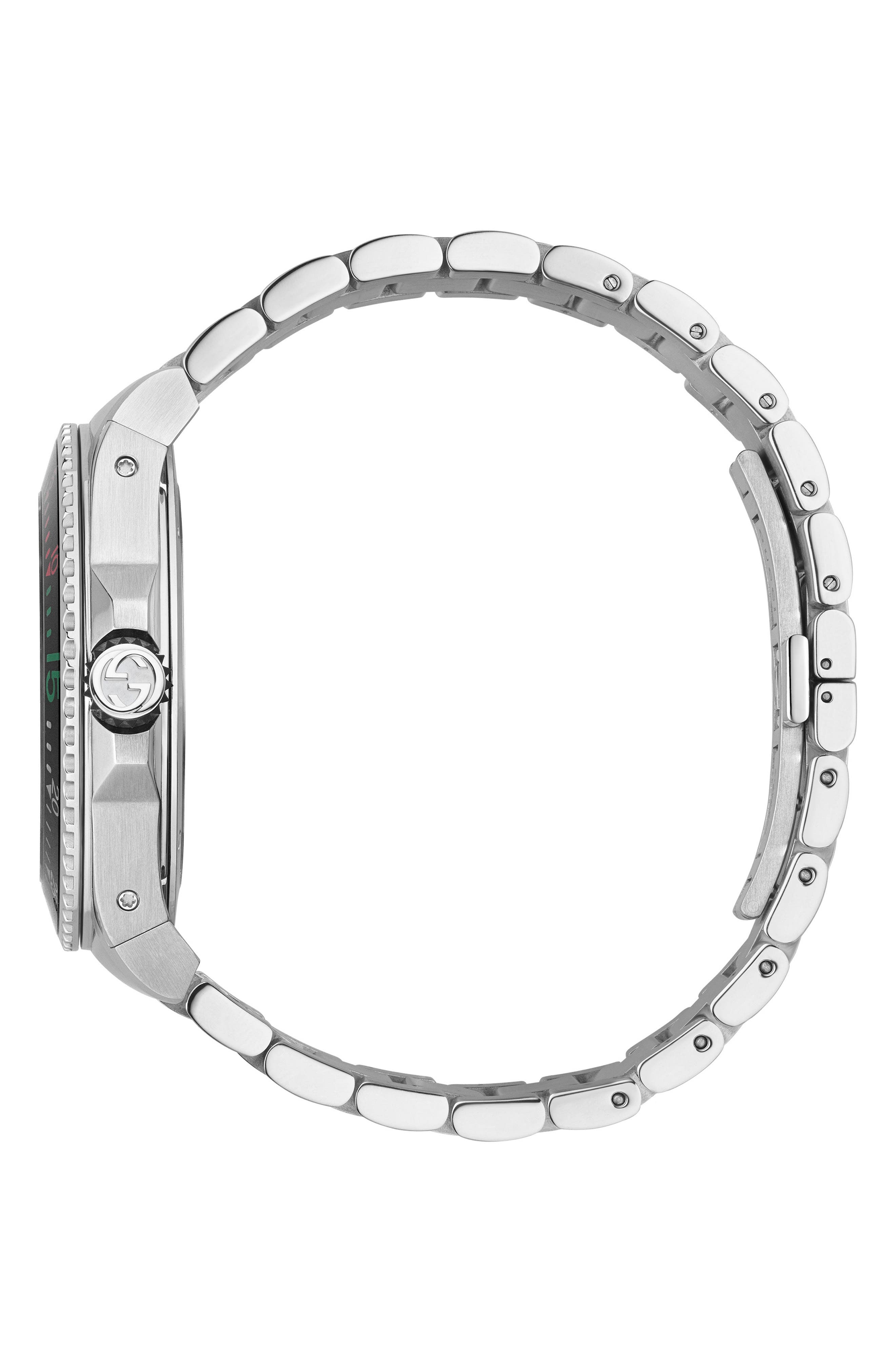 ,                             Dive Watch, 45mm,                             Alternate thumbnail 3, color,                             SILVER/ BLACK/ SILVER