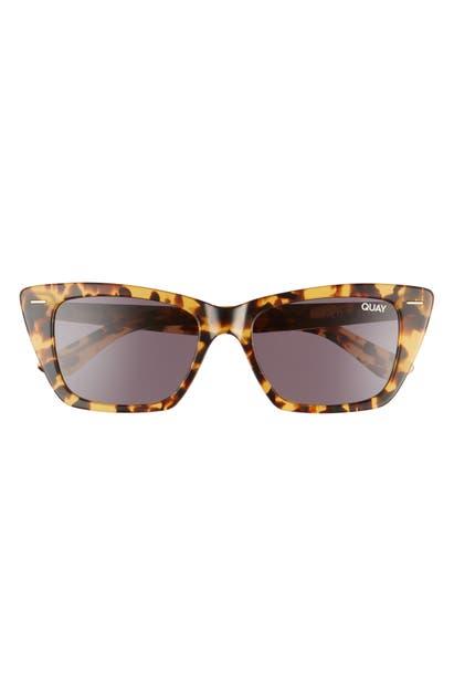 Quay Prove It 52mm Cat Eye Sunglasses In Tortoise/ Black
