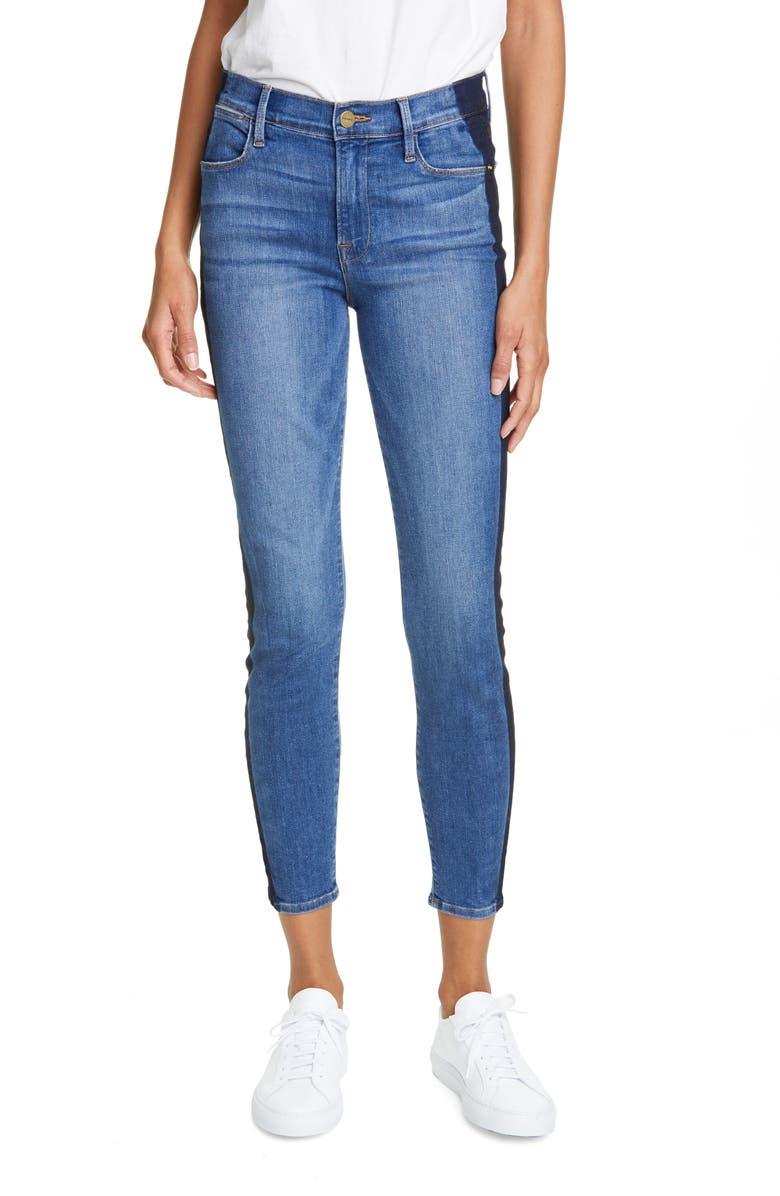 FRAME Le High Crop Skinny Jeans, Main, color, KENYA