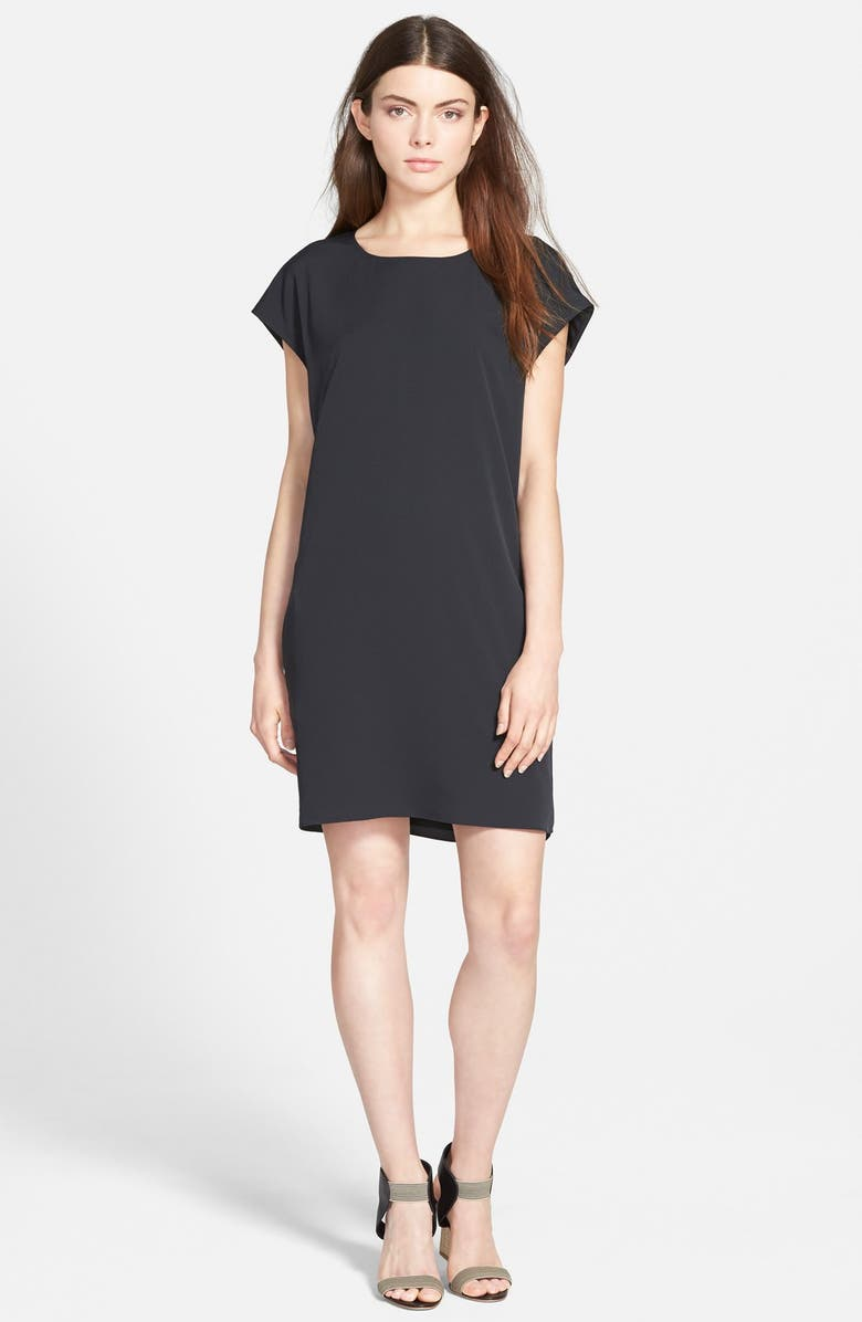 CHELSEA28 Short Sleeve Shirtdress, Main, color, 001