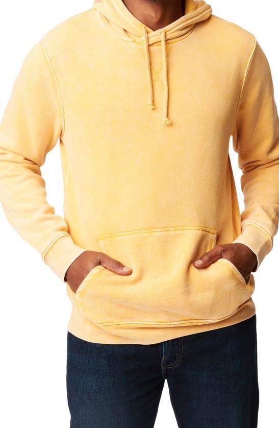 Threads 4 Thought Mineral Wash Fleece Hoodie In Saffron