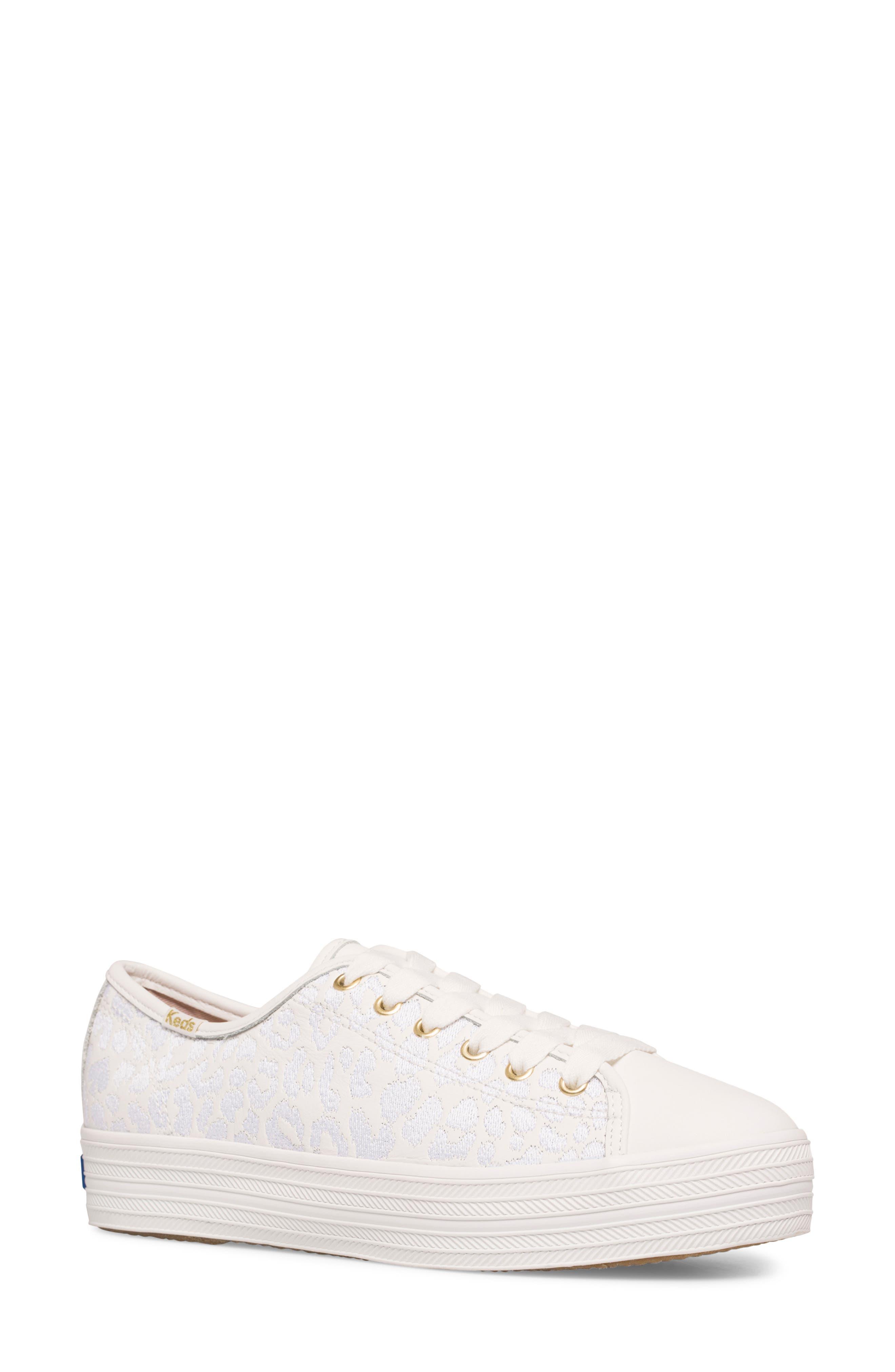 Women's Keds X Kate Spade New York Triple Kick Leopard Embroidered Sneaker