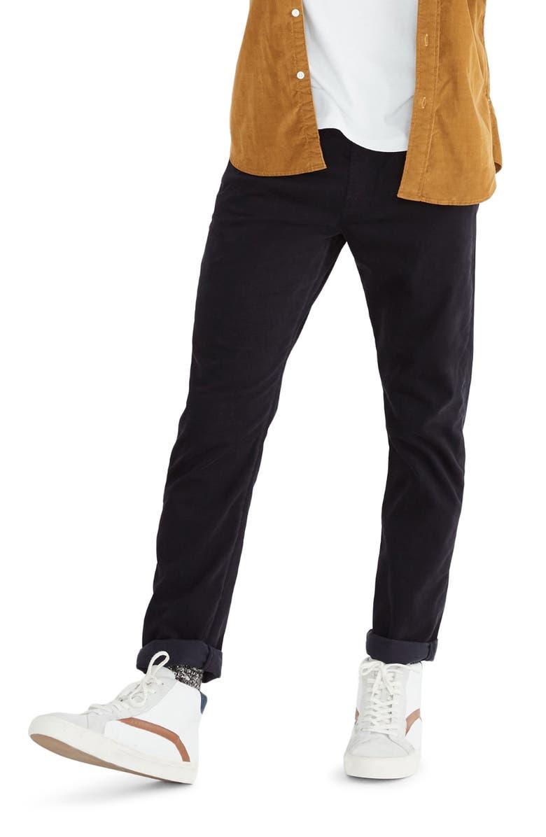 MADEWELL Sateen Slim Jeans, Main, color, BLACK COAL