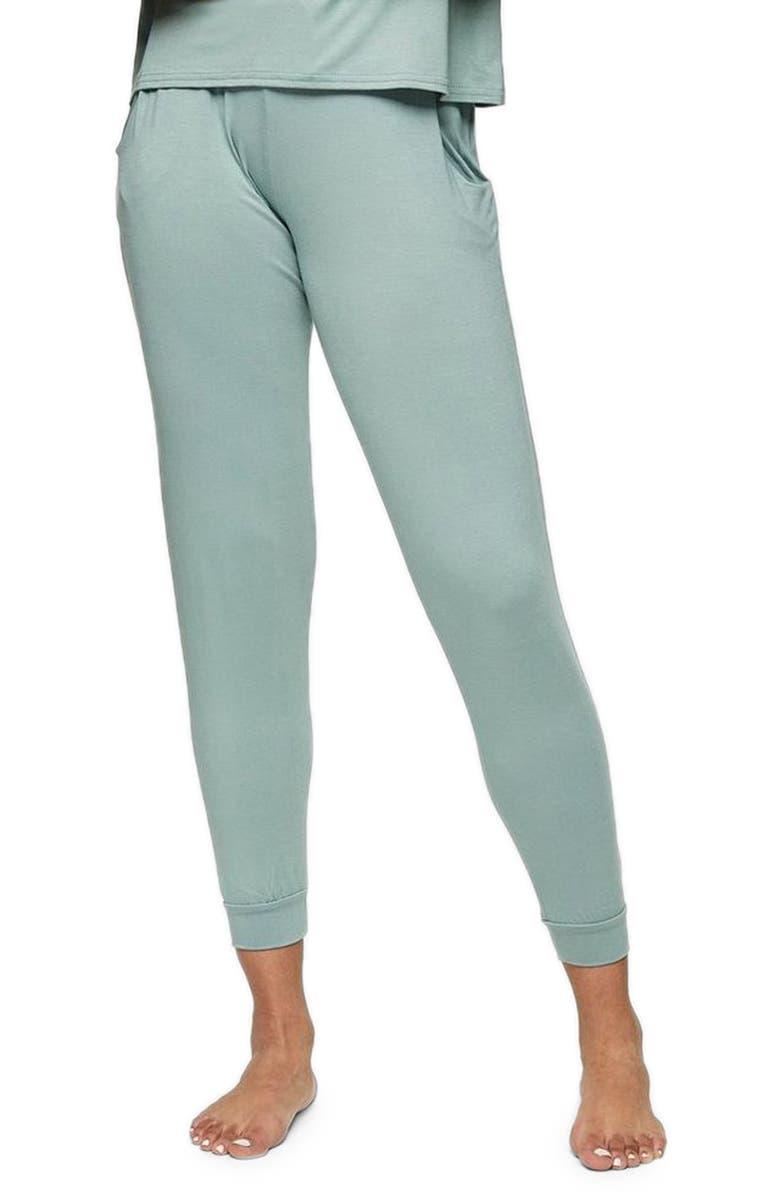 TOPSHOP Lounge Jogger Pants, Main, color, GREEN