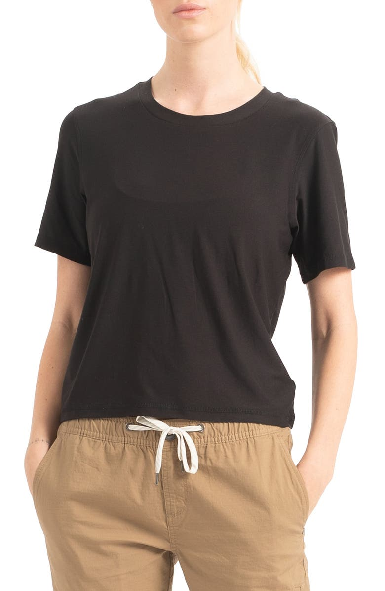 VUORI Performance Boyfriend Tee, Main, color, 001