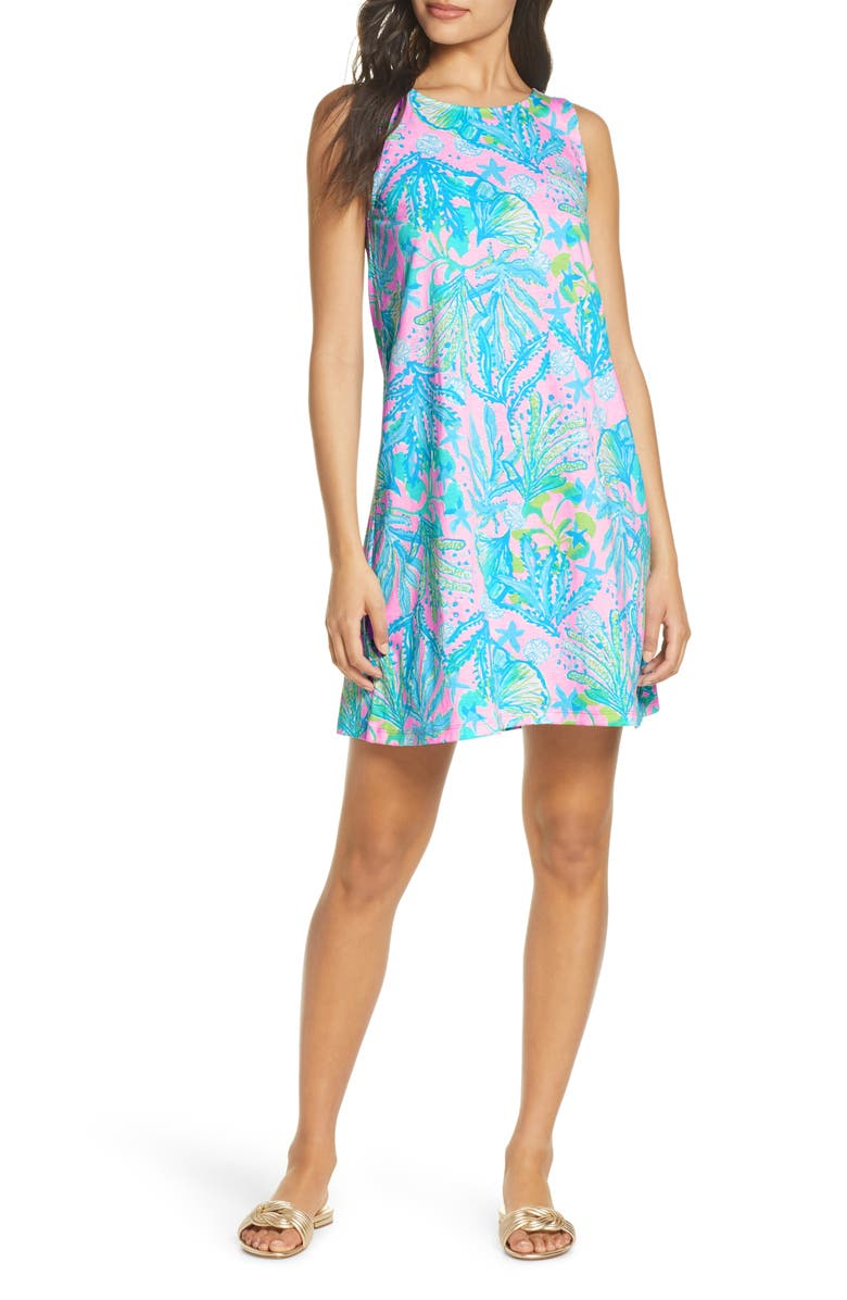 LILLY PULITZER<SUP>®</SUP> Kristen Swing Dress, Main, color, MANDEVILLA BABY HIP NAUTIC