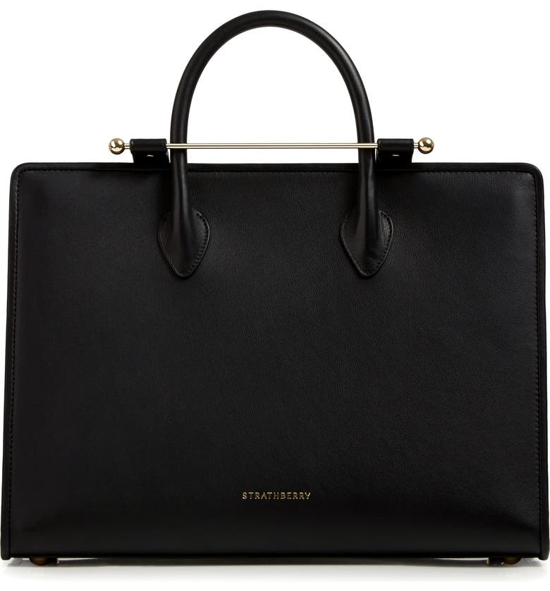 STRATHBERRY Leather Tote, Main, color, 001