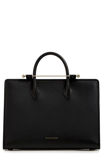 Strathberry Leather Tote In Black