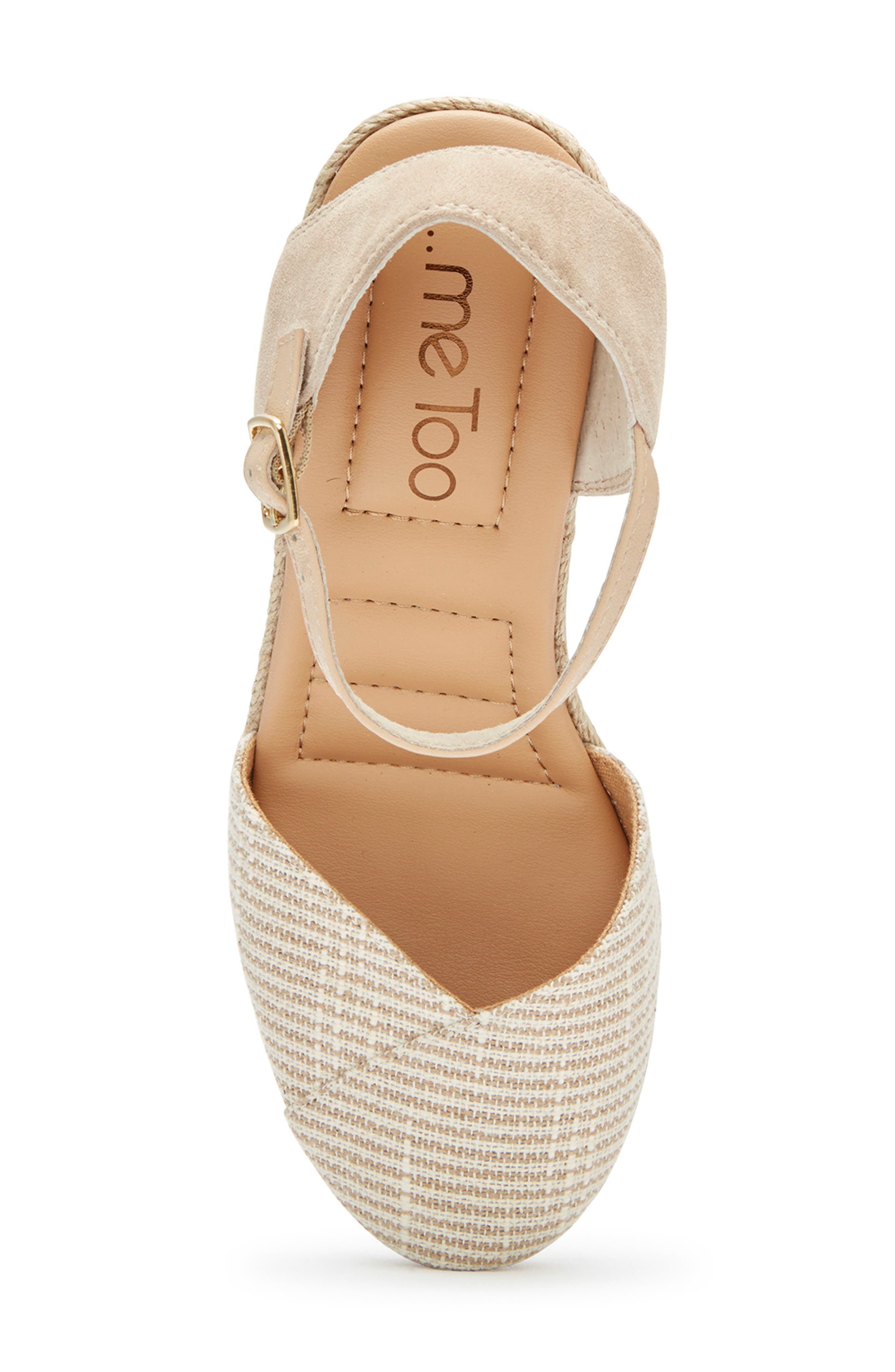 ,                             Brenna Espadrille Wedge Sandal,                             Alternate thumbnail 5, color,                             TAN FABRIC