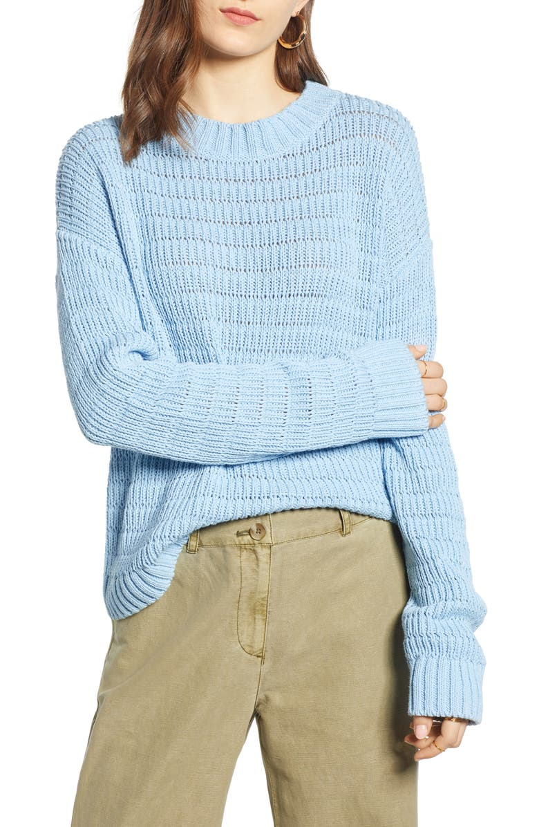TREASURE & BOND Pointelle Sweater, Main, color, 450