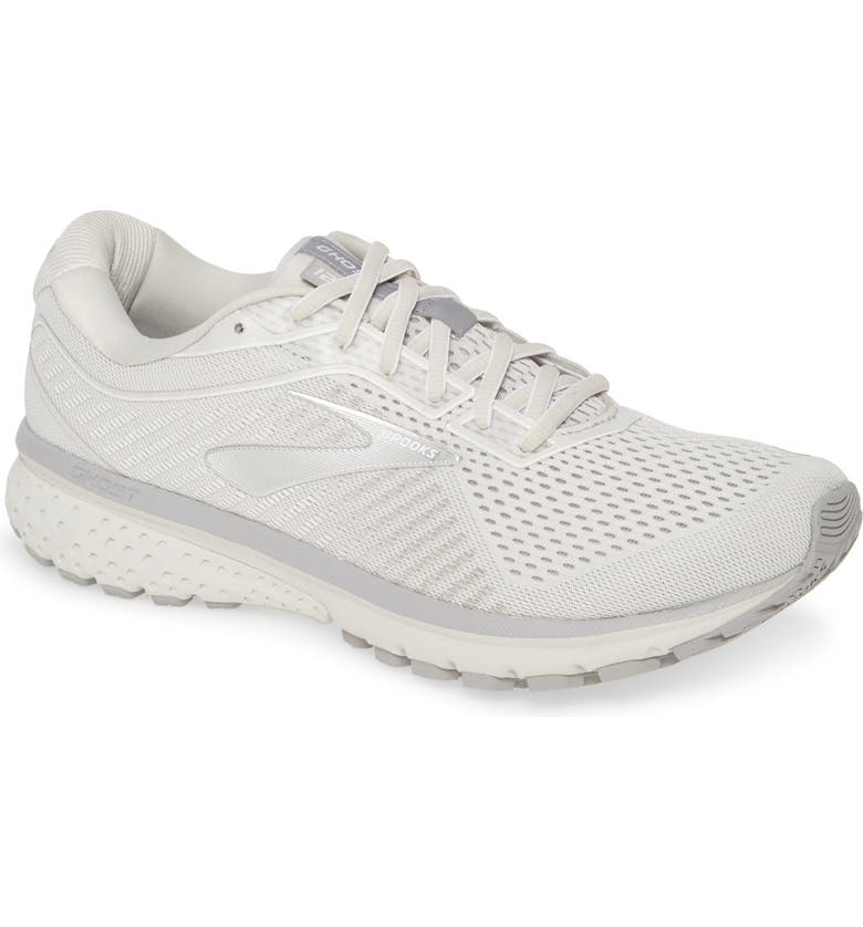 BROOKS Ghost 12 Running Shoe, Main, color, OYSTER/ ALLOY/ WHITE
