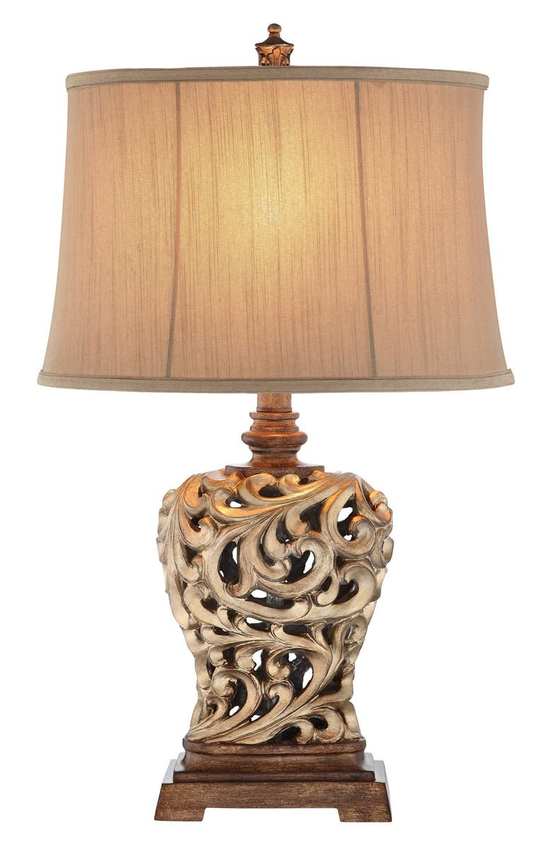 JALEXANDER LIGHTING 'Open Scroll' Table Lamp, Main, color, SOFT GOLD/ BRONZE