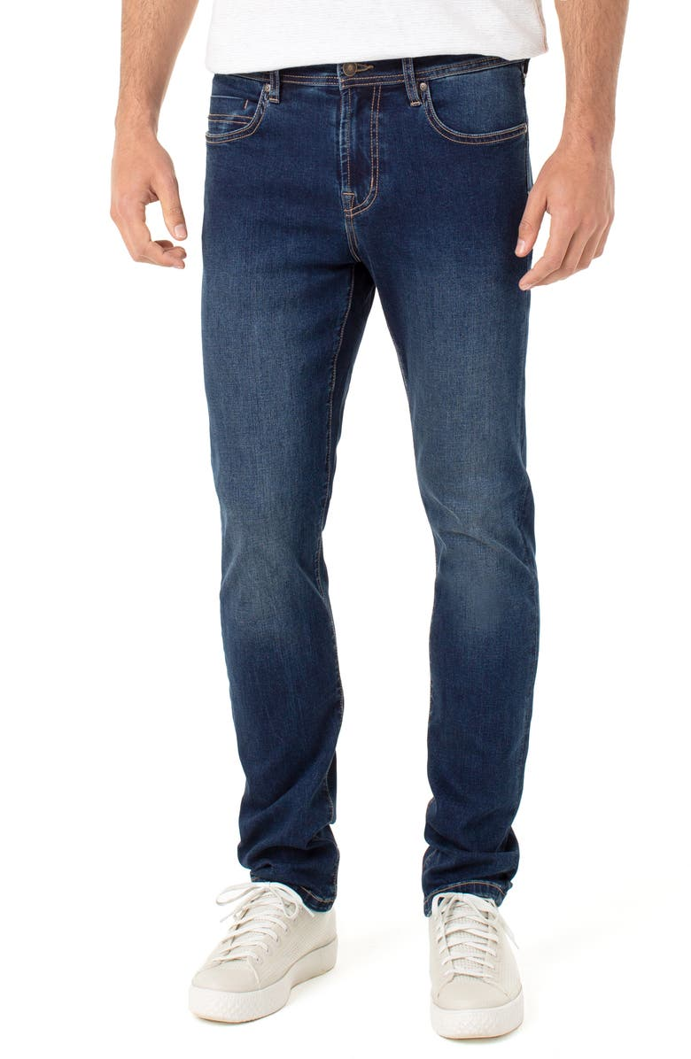 LIVERPOOL Kingston Slim Straight Leg Jeans, Main, color, ATLAS