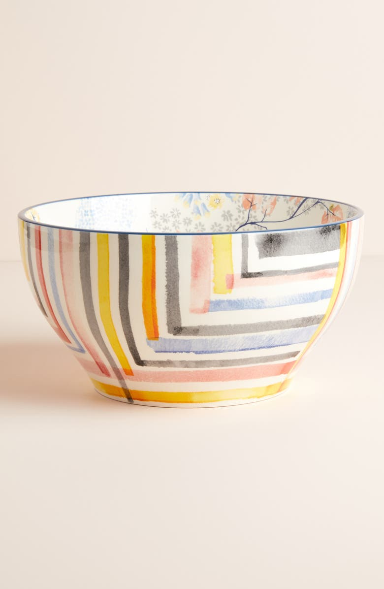 ANTHROPOLOGIE Rosie Earthenware Serving Bowl, Main, color, ROSIE