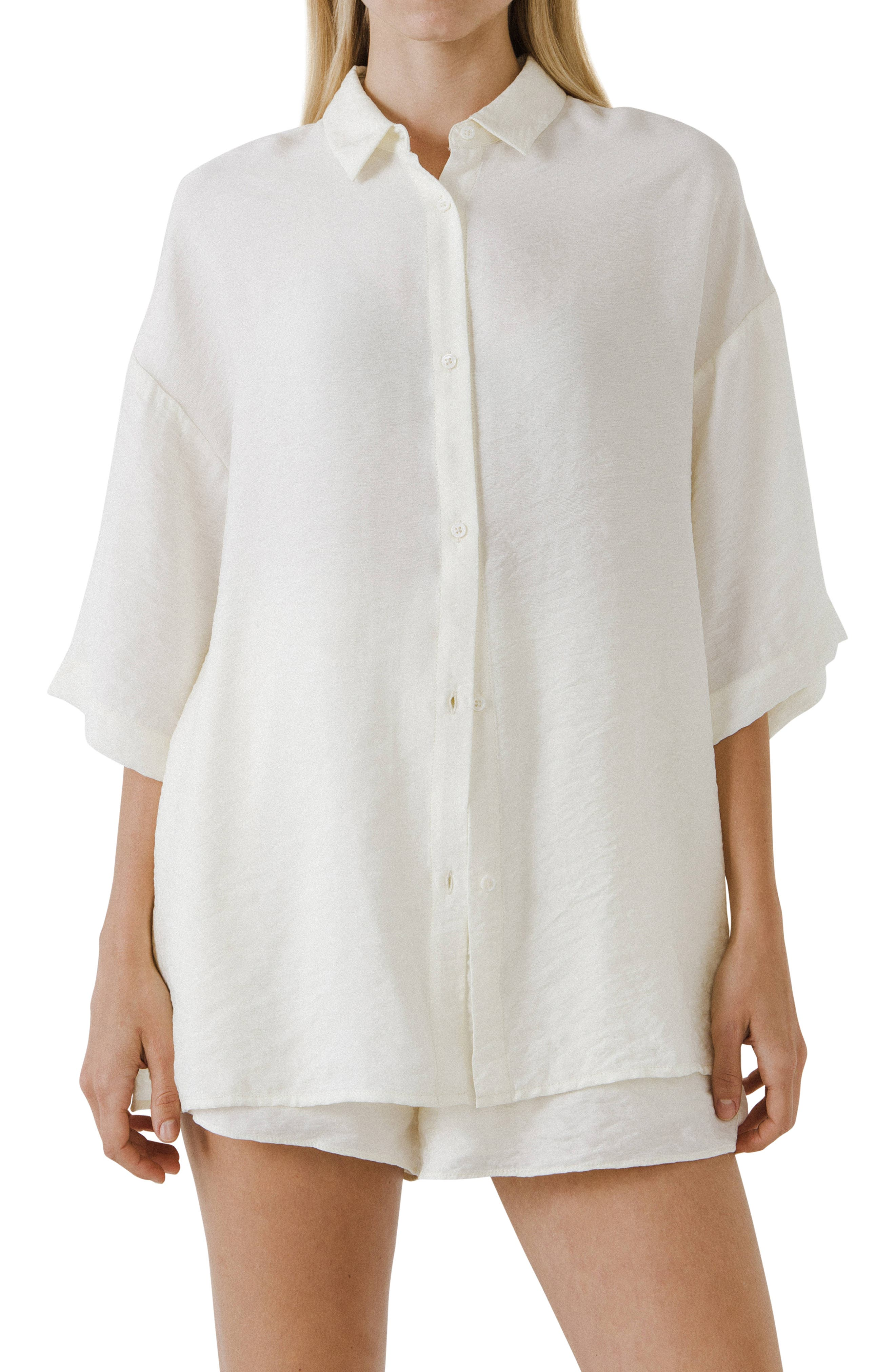 Oversize Button-Up Shirt