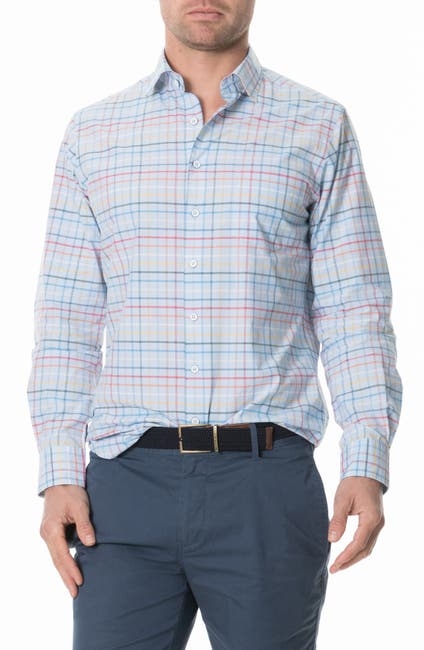 Image of RODD AND GUNN Wiltshire Check Regular Fit Button-Up Shirt