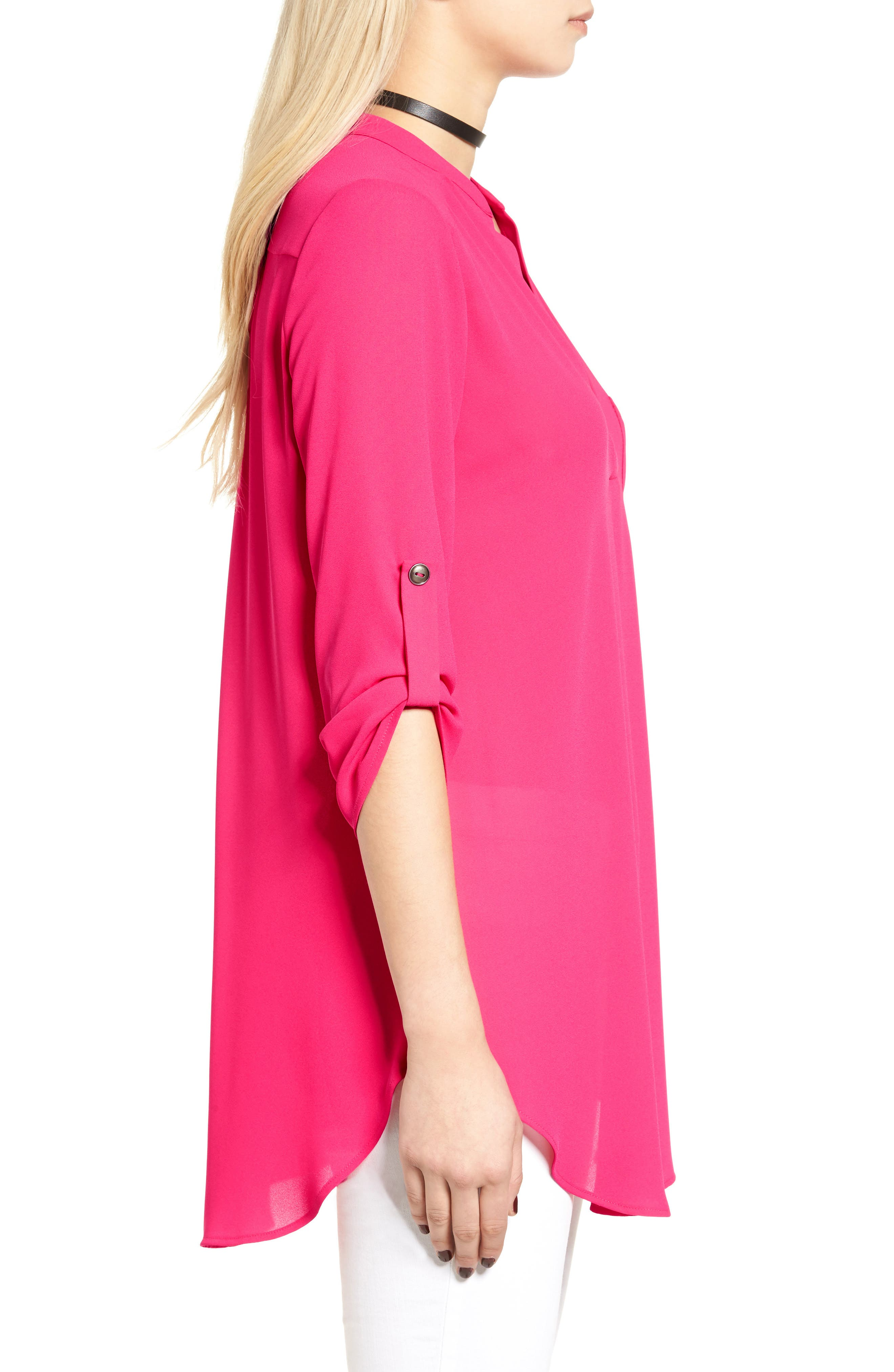 ,                             Perfect Roll Tab Sleeve Tunic,                             Alternate thumbnail 376, color,                             668