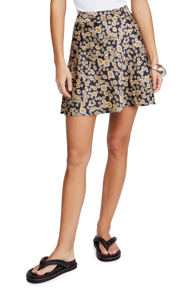 FREE PEOPLE Phoebe Print Miniskirt, Main, color, 019