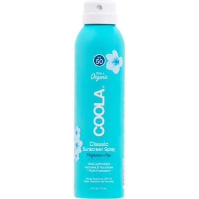 Coola Suncare Classic Sunscreen Spray Fragrance-Free Spf 50, oz