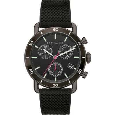 Ted Baker London Magarit Chronograph Silicone Strap Watch, 4m