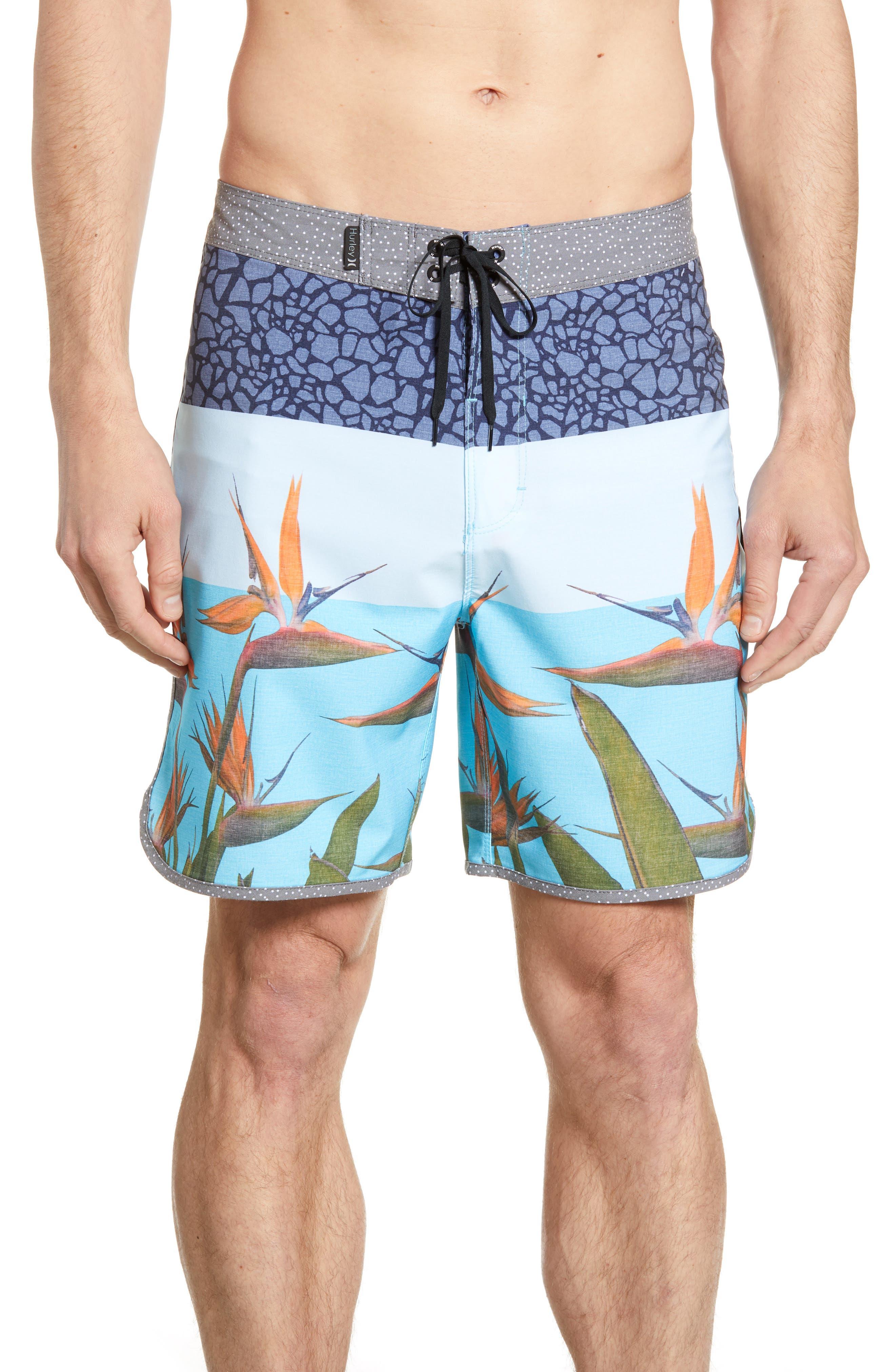 Hurley Phantom Bird Board Shorts, Blue
