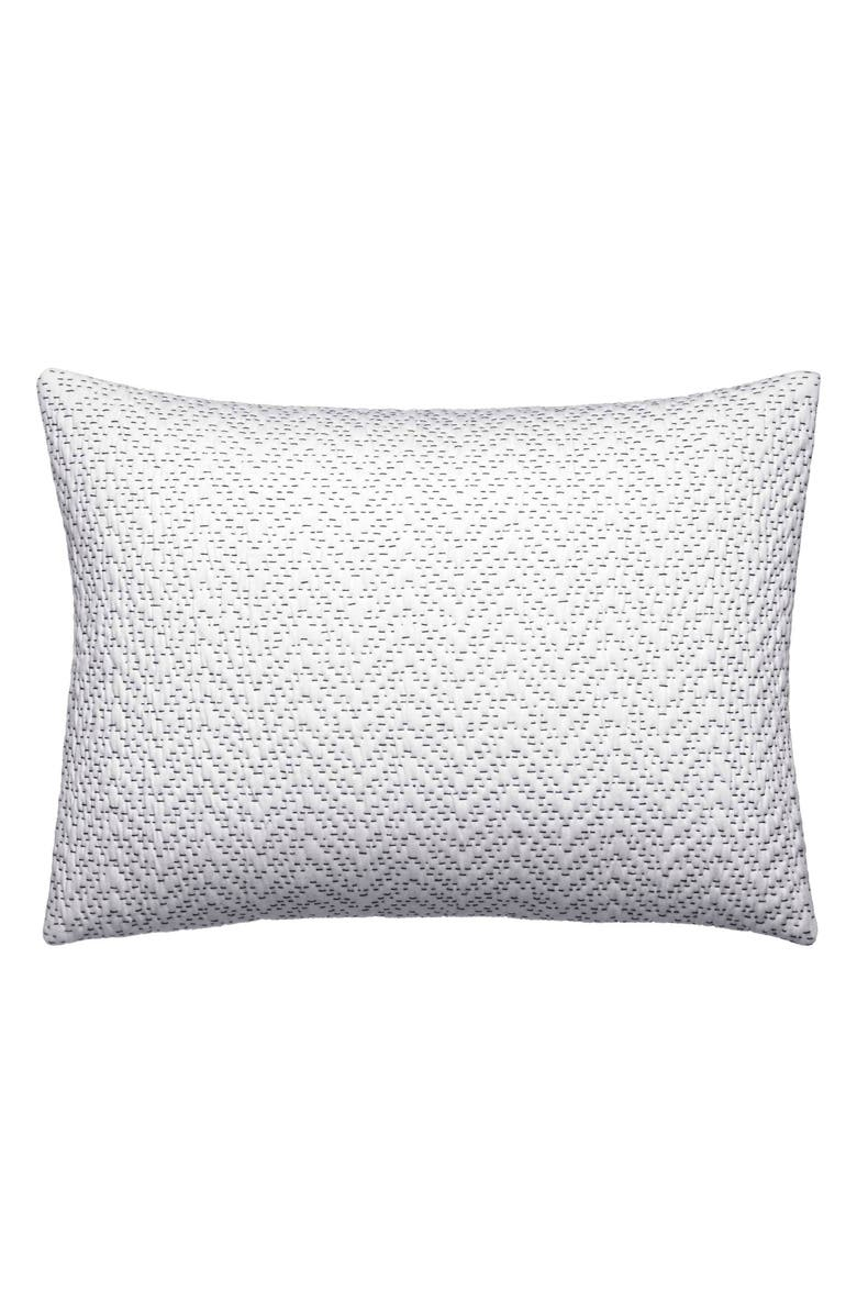 VERA WANG Ink Botanical Crinkle Quilted Accent Pillow, Main, color, WHITE