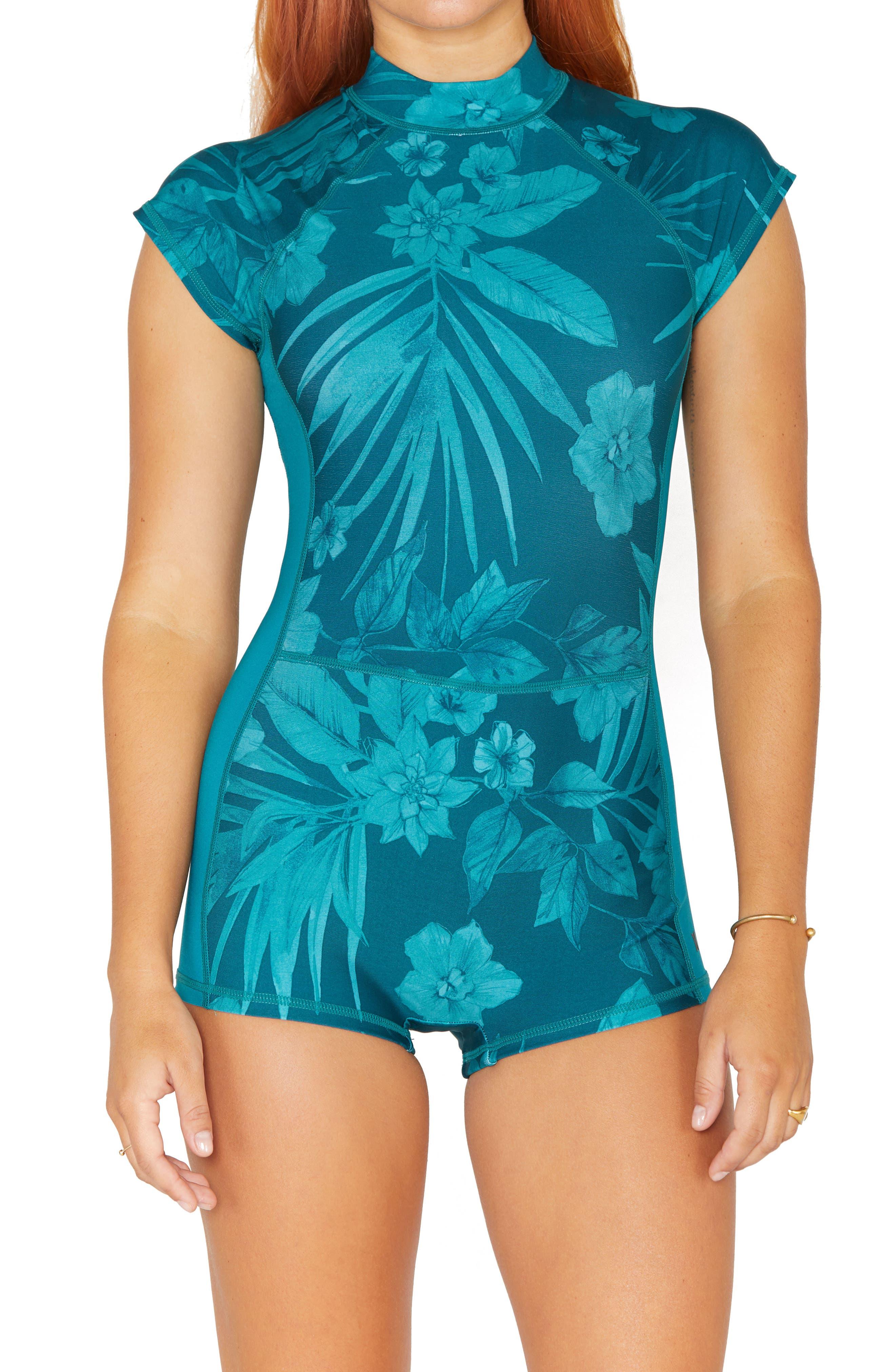 Max Hawaii Shadow Short Sleeve Rashguard Swimsuit