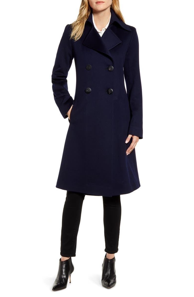 FLEURETTE Double Breasted Wool Princess Coat, Main, color, 404