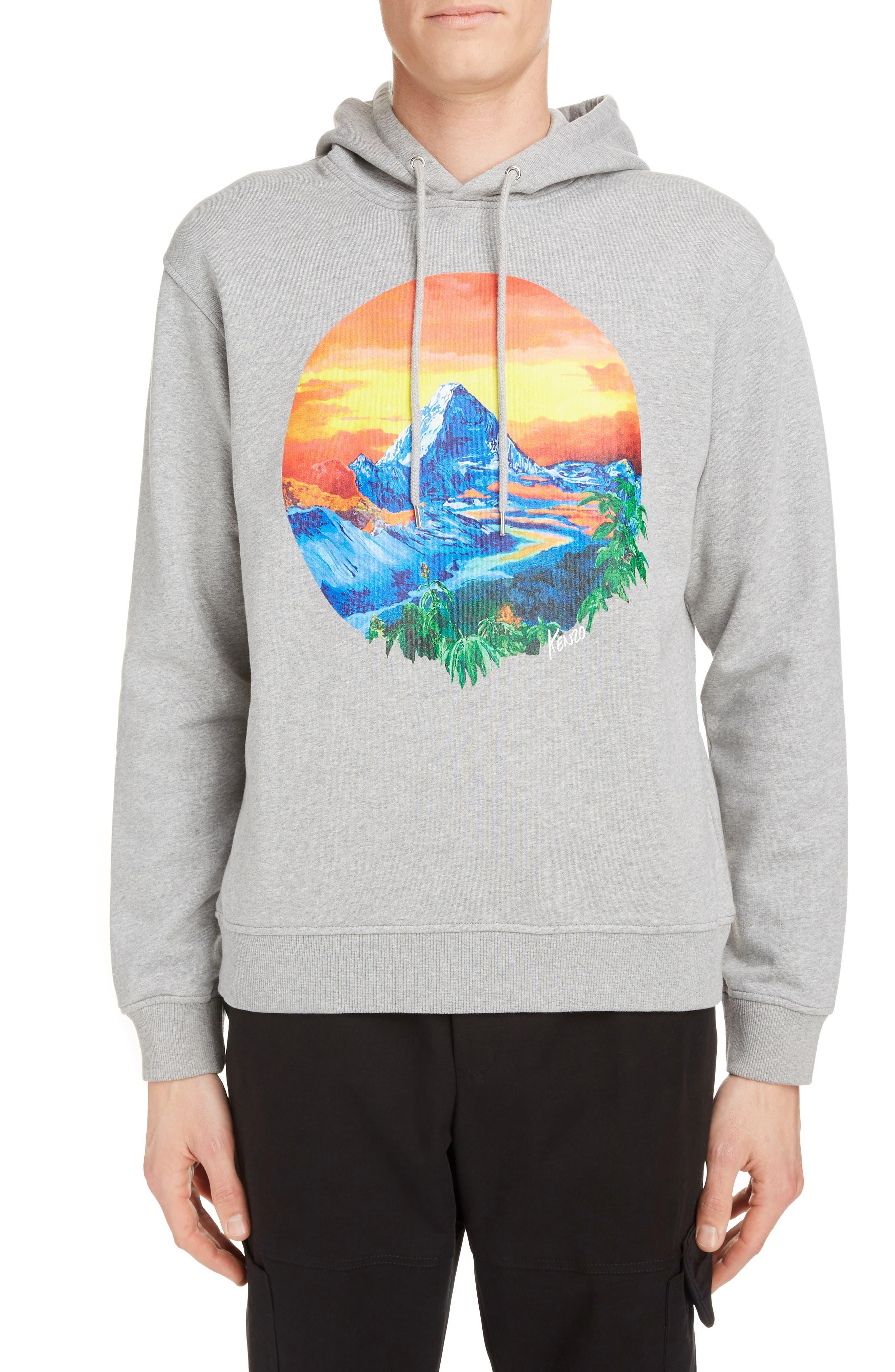 Kenzo Tops Mountain Graphic Cotton Hoodie