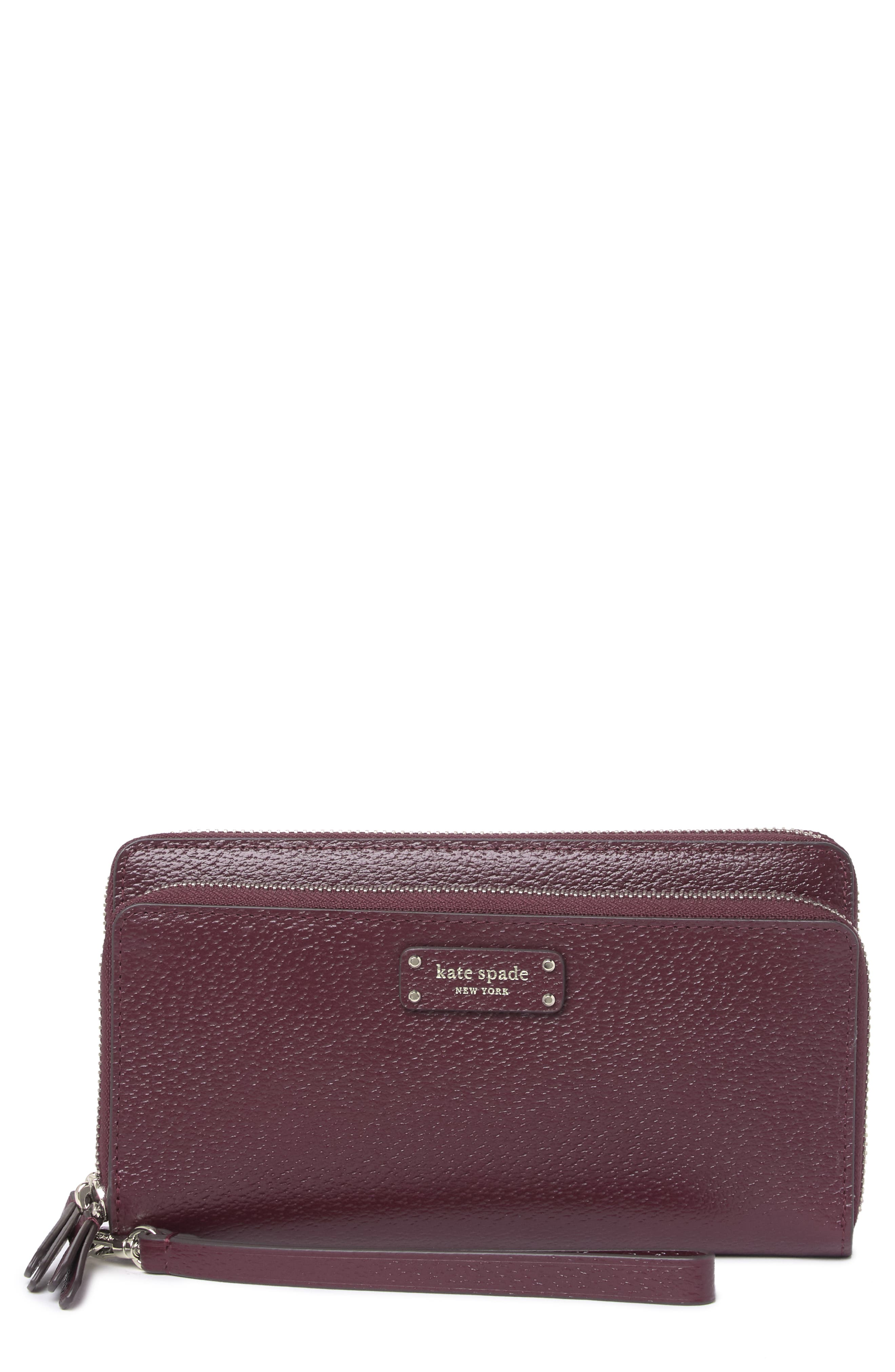 Image of kate spade new york leather jeanne large carryall wristlet wallet