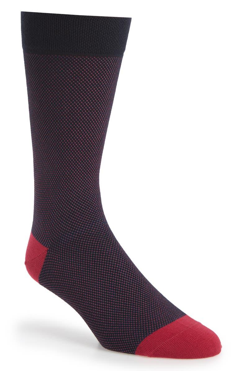 TED BAKER LONDON Microdot Socks, Main, color, DARK BLUE