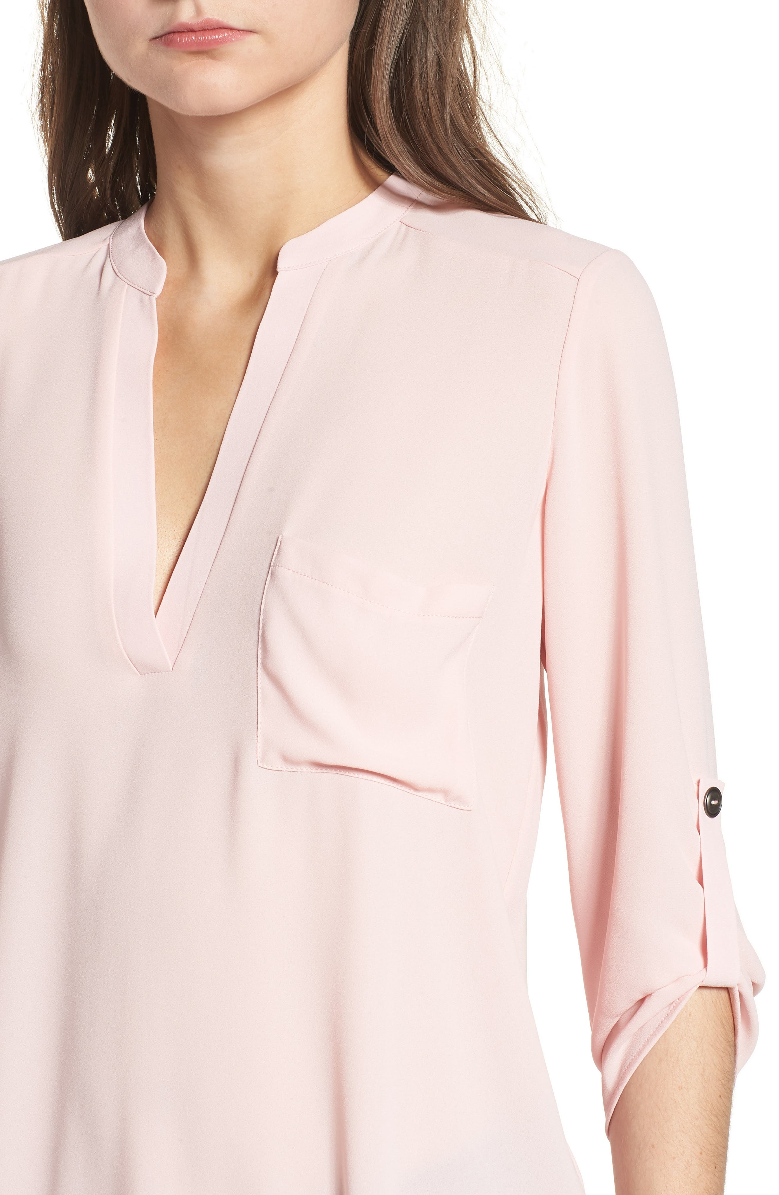 ,                             Perfect Roll Tab Sleeve Tunic,                             Alternate thumbnail 140, color,                             655