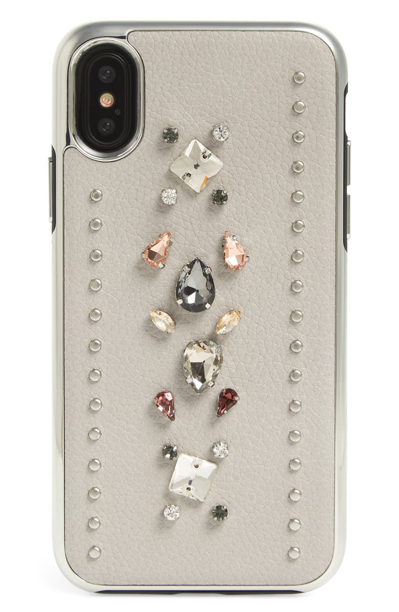 best cheap b7304 33442 Crystal Embellished iPhone X Case