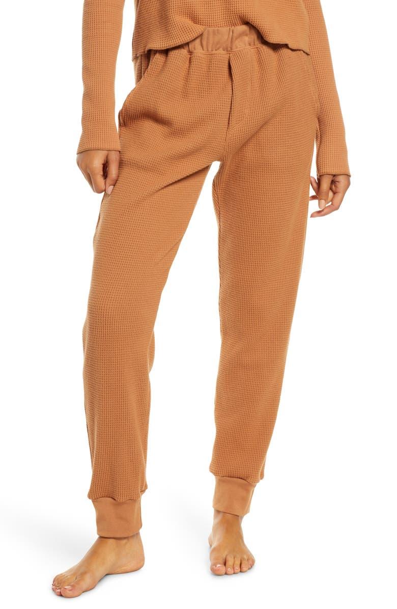 GROCERIES APPAREL Organic Cotton Thermal Pajama Pants, Main, color, CIN