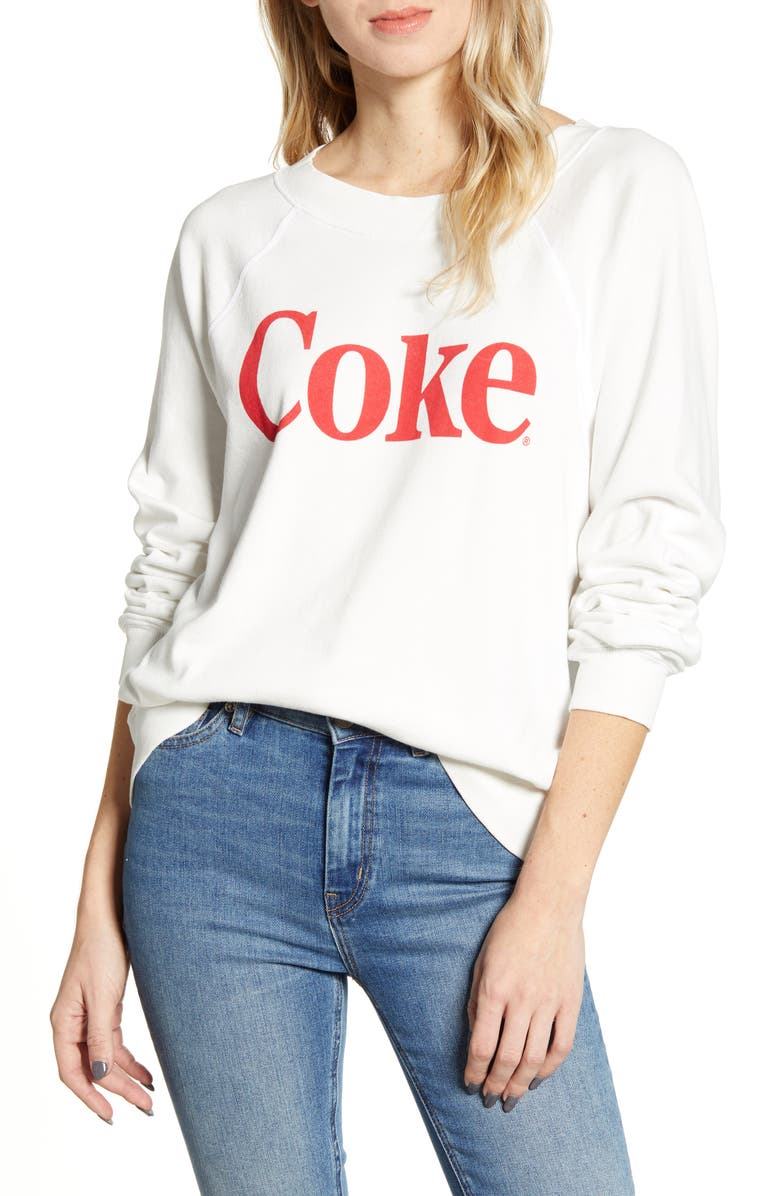 WILDFOX Classic Coke Sweatshirt, Main, color, VANILLA