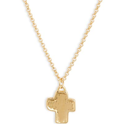 Lux Divine Village Cross Pendant Necklace
