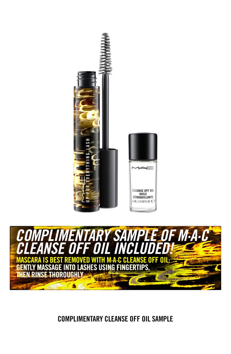 MAC COSMETICS MAC Up For Everything Lash Mascara & Cleanse Off Oil, Main, color, NO COLOR