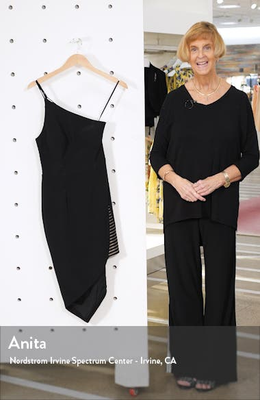 One-Shoulder Asymmetrical Hem Body-Con Dress, sales video thumbnail