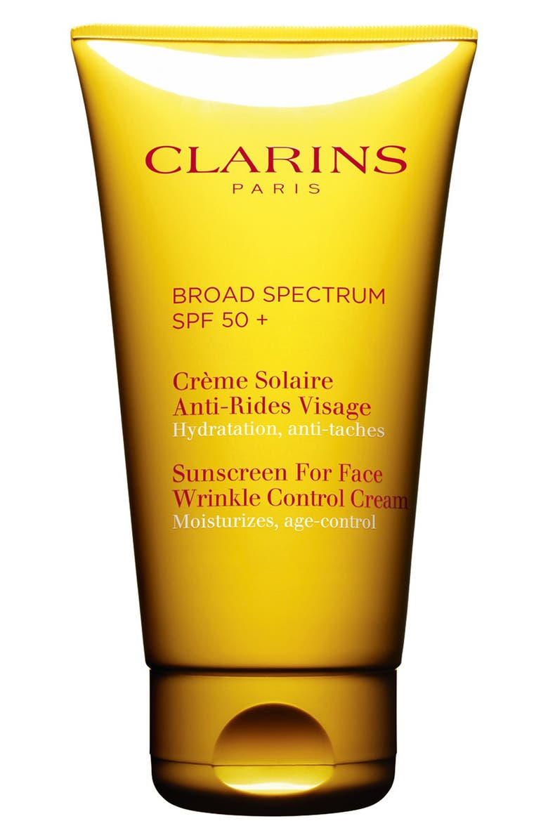 CLARINS Sunscreen for Face Wrinkle Control Cream SPF 50+, Main, color, 000
