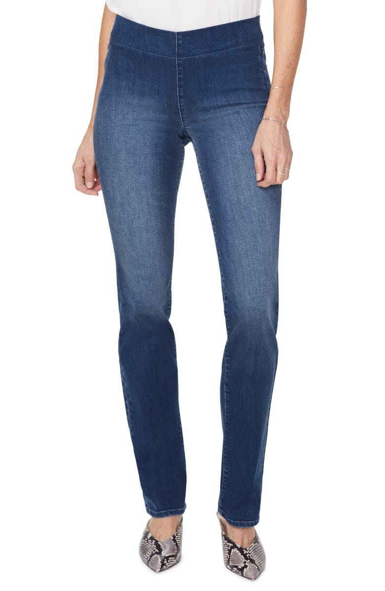NYDJ NYDY Pull-On Straight Leg Jeans, Main, color, 427
