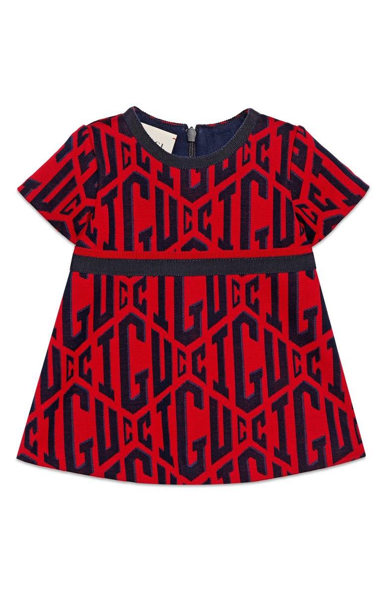 GUCCI Game Cotton Dress, Main, color, 600