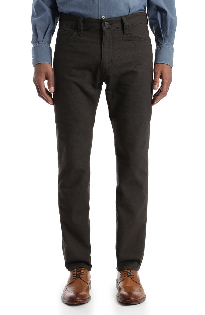 34 HERITAGE Charisma Relaxed Fit Five-Pocket Pants, Main, color, MOCHA OXFORD