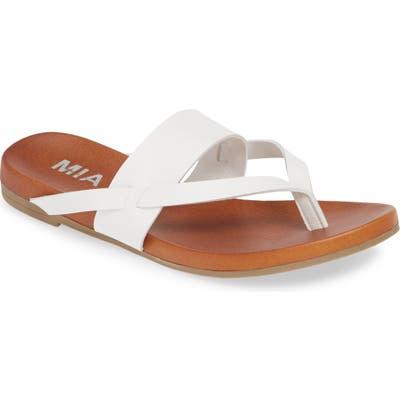 Mia Mariah Slide Sandal, White