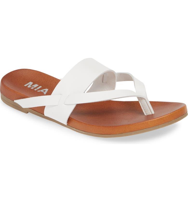MIA Mariah Slide Sandal, Main, color, WHITE