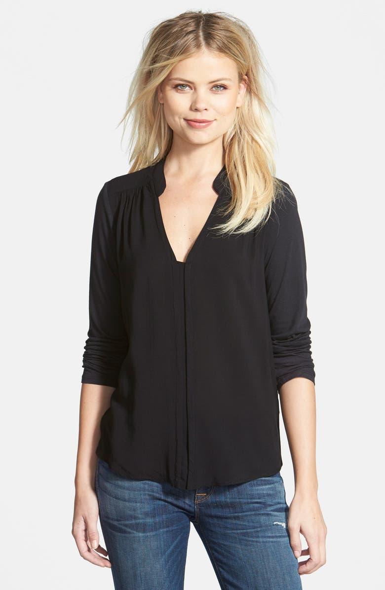 SPLENDID 'Chelsea' Voile Shirt, Main, color, 001