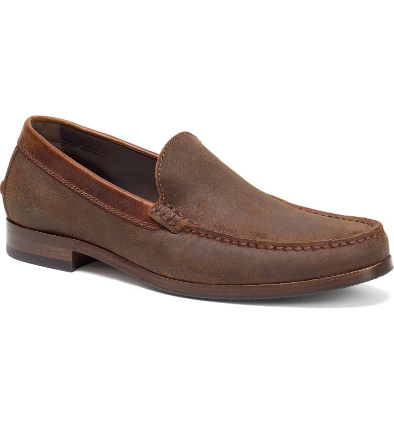 TRASK Shane Loafer, Main, color, BROWN WAXED SUEDE