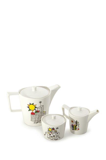 Image of BergHOFF Eclipse Porcelain Codriez 6-Piece Coffee/Tea Serving Set