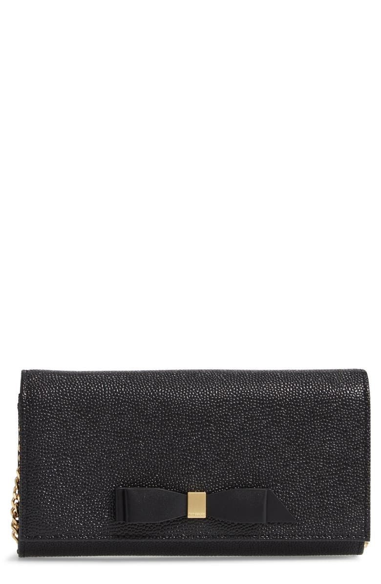 daf77955b Ted Baker London Alaine Crossbody Leather Matinée Wallet on a Chain ...