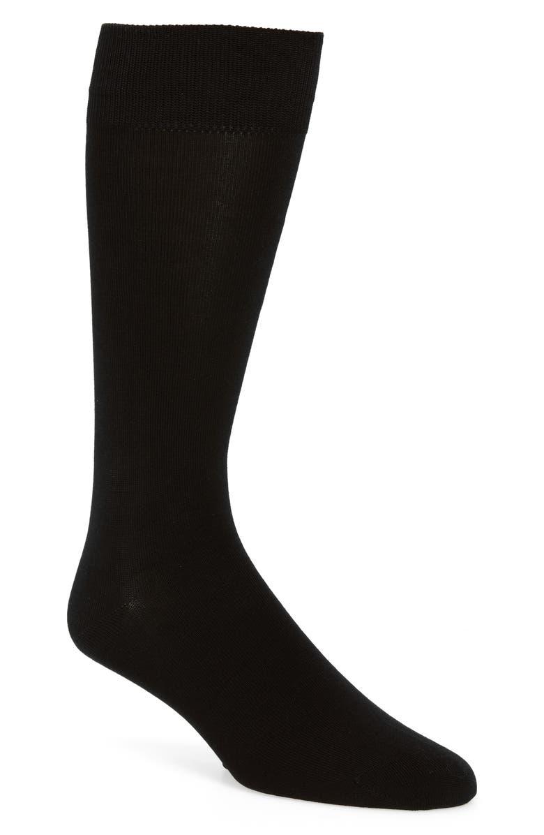CALIBRATE Cotton Blend Socks, Main, color, BLACK